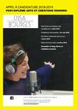 """Post-diplôme """"Arts et créations sonores"""" / Appel à candidature"""