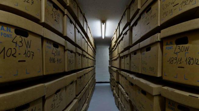 Magasin de conservation d'archives ©Archives départementales des Hauts-de-Seine