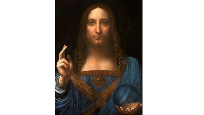 Léonard de Vinci, Salvator Mundi, vers 1500, huile sur bois, 65,6 x 45,4 cm