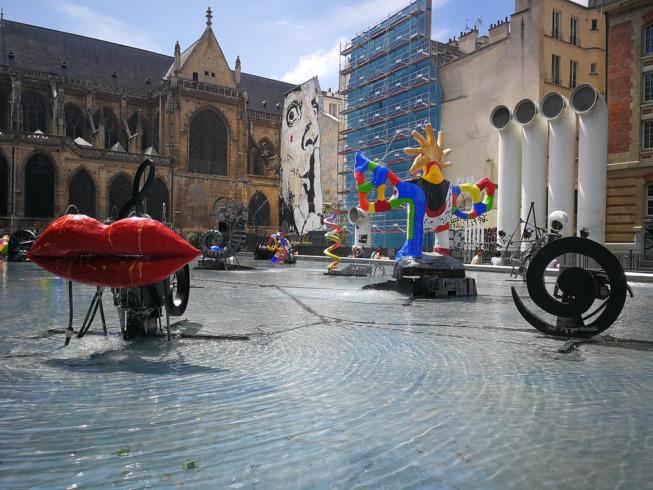 Niki de Saint Phalle et Jean Tinguely, Fontaine Stravinsky-Fontaine des automates, Paris (1983) ©artinthecity