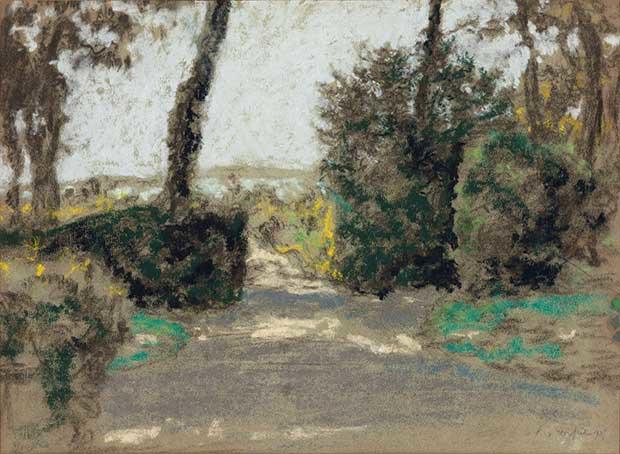 François Xavier Roussel, Étude pour Lucy Hessel à Sallenelles, en Normandie, pastel sur papier, 1905, 330 x 455 mm ©Galerie Eric Gillis