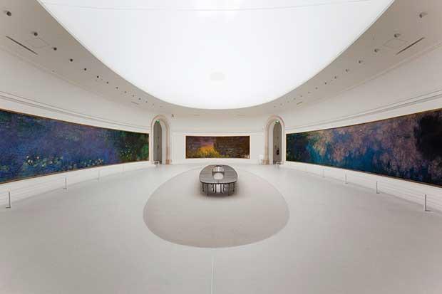 Les Nymphéas de Claude Monet, salle 1 Musée de l'Orangerie Photo © Musée de l'Orangerie, Dist. RMN-Grand Palais / Sophie Crépy Boegly