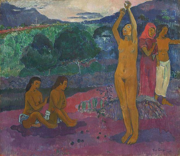 Paul Gauguin, L'Invocation, 1903, huile sur toile,  66,5 x 75,6 cm, Washington, National Gallery of Art.