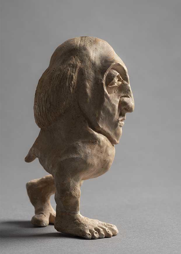 Léopold Chauveau, Monstre, non daté, plâtre, 13 x 7 x 8,5 cm, collection particulière ©musée d'Orsay