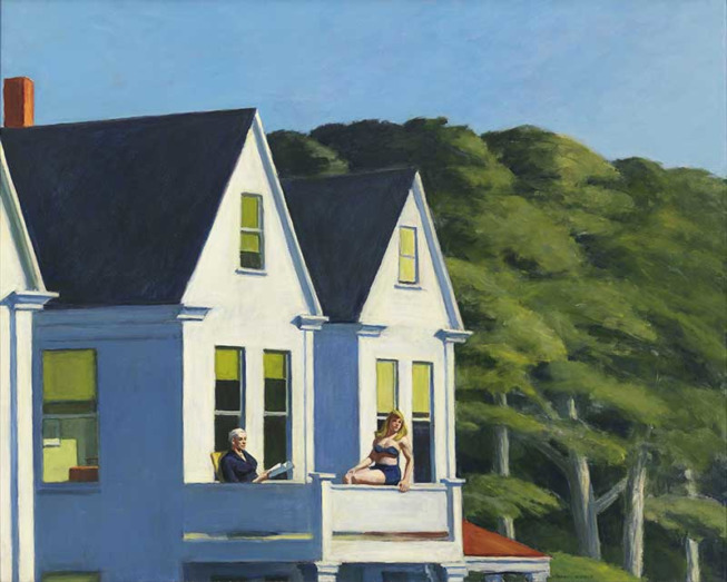 Edward Hopper, Second Story Sunlight, 1960 Huile sur toile, 102.1 x 127.3 cm Whitney Museum of American Art, New York ; Purchase, with funds from the Friends of the Whitney Museum of American Art © Heirs of Josephine Hopper / 2019, ProLitteris, Zurich Photo : © 2019. Digital image Whitney Museum of American Art / Licensed by Scala