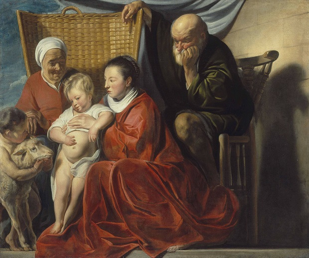 Jacques Jordaens, The holy family, 1625, Alte Pinakothek Munich
