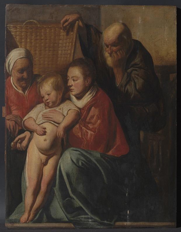 Jacques Jordaens, La sainte famille, v.1615, Hôtel de ville Saint Gilles, Bruxelles ©MRBAB/KIK-IRPA
